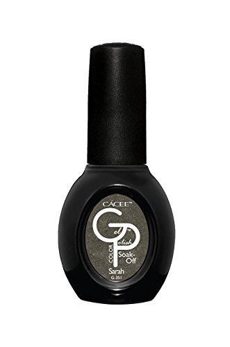 Gun Metal Gray Shimmer Gel Nail Polish, Sarah, Professional Color Lacquer by Cacee 351 0.5oz