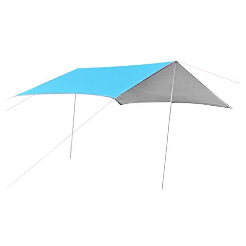 SM SunniMix 300x300cm Tent Tarp Hammock Rain Fly Awning Sun Shelter with Peg Rope Carry Bag - -