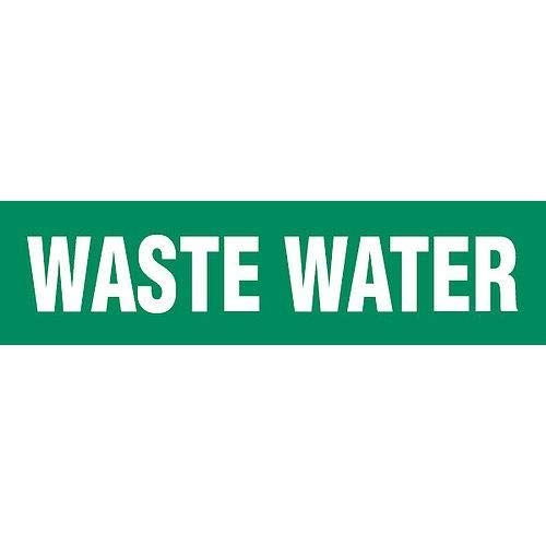 GHS Safety PM1322VB,''Waste Water'' Adhesive Vinyl Pipe Marker, Pack of 500 pcs