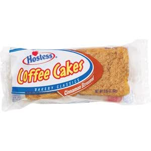 hostess coffee cake hostess cinnamon streusel coffee cake 6 3 25oz 4852