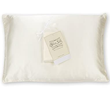 Bliss Silk Pillowcase for Hair and Skin 100% Pure 22 Momme Silk Standard Size