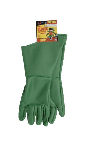 [Teen Titans Child's Robin Gloves] (Teen Titan Robin Costumes)
