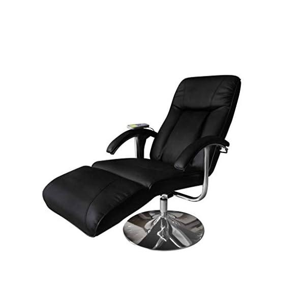 vidaXL Fauteuil de Massage Electrique Cuir Artificiel Réglable Inclinable