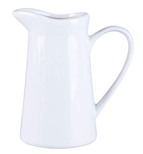 - Creamer Pitcher With Handle,Syrup Pitcher,Coffee Milk Honey Pitcher Milk Syrup Server, Professional Services In Cafes, Restaurants, Hotels(white,7 oz) (7 Oz)