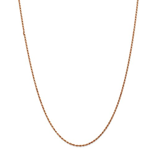 Jewelry Necklaces Chains 14k Rose Gold 1.8mm D/C Rope Chain
