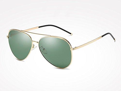 Sunglasses gafas sol macho hombres TL gold gris de de Gafas Marco de green aleación negro polarizadas dPwwvAtqx