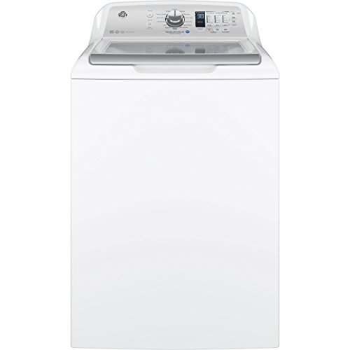 GE GTW680BSJWS Top Loading Washer with Stainless Steel Basket, 4.6 Cu. Ft. Capacity, 14 Cycles, White, - Ge Washing Machine
