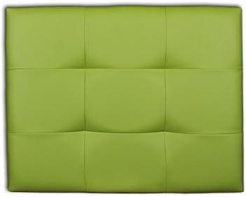 Ventadecolchones - Cabecero de Cama Tapizado Acolchado de Dormitorio en Polipiel con capitoné Modelo Tablet Verde y Medidas 151 x 70 cm para Camas de 135 ó 150
