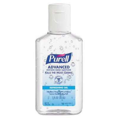 Advanced Instant Hand Sanitizer Gel, 1 oz Bottle, Lemon Scent, 250/Case, Sold as 1 Carton by Purell