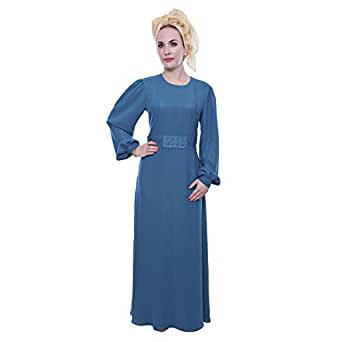 Hamsa Albaridi Blue Chiffon Special Occasion Dress For Women