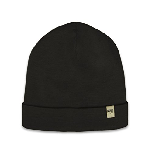 Minus33 Merino Wool Ridge Cuff Beanie, Black, One Size