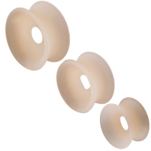 bijouterie piercing elargisseur oreilles ear lobe flesh tunnel plug ecarteur 12mm 14mm 16mm silicone 6 pcs FRCS