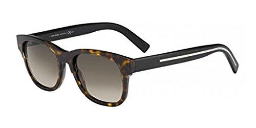 Christian Dior Black Tie 196/S Sunglasses Crystal Havana Black / Brown Gradient & Cleaning Kit - Uk Dior Men