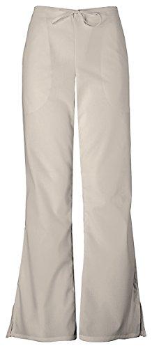 Cherokee Women's Natural Rise Flare Leg Drawstring Pant_Khaki_X-Large