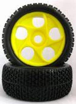 HSP - Ruedas Coche RC Buggy 1/8 Universales Amarillas - SST180080: Amazon.es: Juguetes y juegos