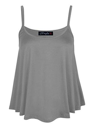 Womens Plus Size Cami Vest Top (MTC) ((us 16/18) (uk 20/22), silver grey)