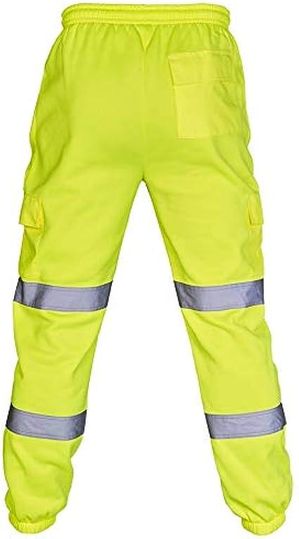 Expert Workwear Hi Vis Joggers 2 Toni Alta visibilit/à Pantaloni di Sicurezza Slim Fit Abbigliamento da Lavoro Due Toni Pantaloni Jogging