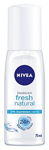 Nivea Deo Fresh Natural Zerstäuber, ohne Aluminium, 6er Pack 6 x 75 ml