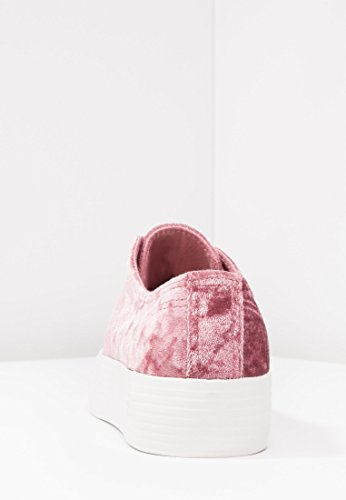 Mujer Zapatillas Suela Even Cordones Calzado Con Deportivos amp;odd De Terciopelo Rosa Casual Plataforma Zapatos gqxxIHw6