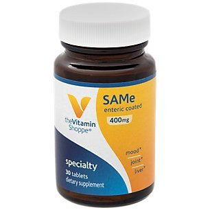 Same 400mg Supports Mood, Joint, Liver Brain Function, Once Daily Dietary Supplement Same (SADENOSYLLMETHIONINE) (30 Enteric Coated Tablets) by The Vitamin Shoppe