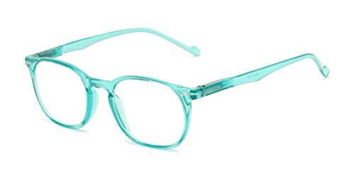Readers.com Reading Glasses: The Darling Reader, Plastic Retro Square Style for Women - Mint Green, 1.50 (Sonnenbrille Reader)