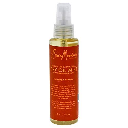 Shea Moisture Argan Oil & Raw Dry Mist for Unisex, 4 Ounce