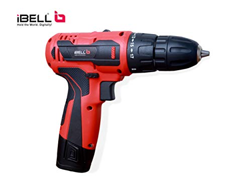 iBELL Cordless Driver Drill CD12-74, 12-Volts (2 Battery+BMC Box+Extra 2 Sides Screw Driver Head)