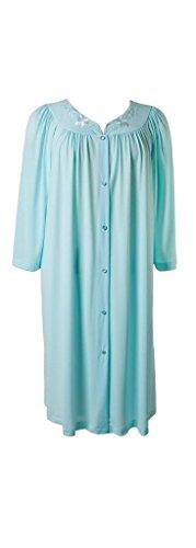 Miss Elaine Women's Robe, Seafoam, Large