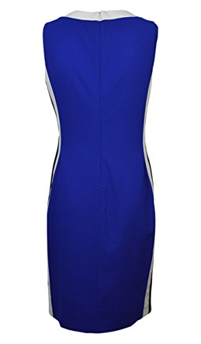 RALPH LAUREN Women's Contrast Side Sleeveless Sheath Dress (16, Cobalt/Black) by RALPH LAUREN (Image #2)