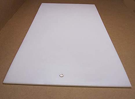 "3//8/"" Thick 24/"" Length x 24/"" Width UHMW Natural White"