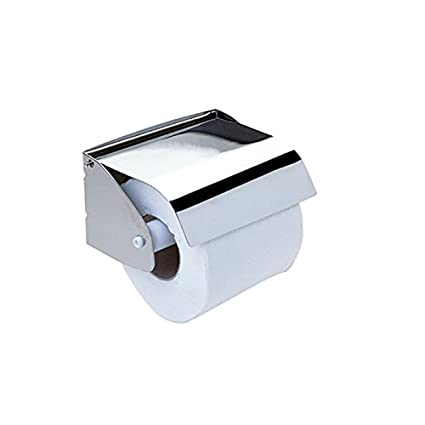 Dispensador con tapa Papel Higiénico Acero Inoxidable Satinado
