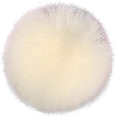 Kaki, 1 Pcs BZLine Faux Fox Fourrure De Fourrure pour V/êtements Boule de Pompon Fluffy DIY pour Bonnet Tricot/é