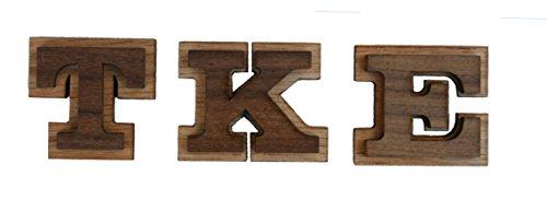Tau Kappa Epsilon Double Raised Wood Greek Letter 1 1/2