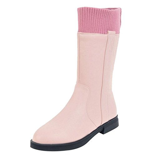 COOLCEPT Women Boots Zipper Pink