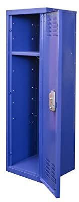 "Hallowell Kid Locker, 15""W x 15""D x 48""H, 717 Grand Slam (blue), Single Tier, 1-Wide, Knock-Down"