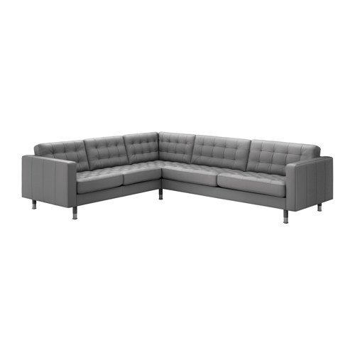 Ikea Sectional, 5-seat corner, Grann, Bomstad gray/metal 4202.11526.262