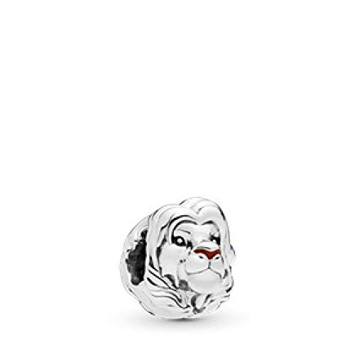 (PANDORA Disney, The Lion King Simba 925 Sterling Silver Charm - 798049ENMX)