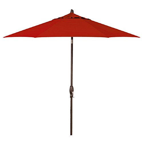 9-Foot Treasure Garden (Model 810) Deluxe Auto-Tilt Market Umbrella with Bronze Frame and Sunbrella Fabric: Henna (Includes Extended Frame (Henna Sunbrella)