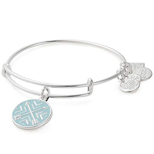 Alex and Ani Arrows of Friendship Charm Bangle - Shiny Silver Finish