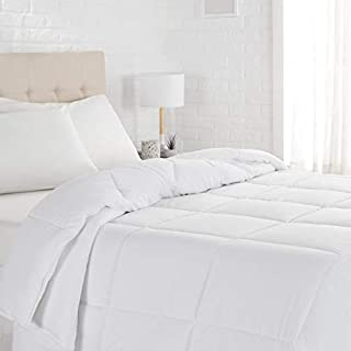 AmazonBasics Down Alternative Bed Comforter, Twin, Light