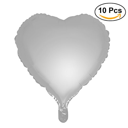 TOYMYTOY Pack of 10 Heart Shape Foil Balloons for Wedding Birthday Party Decoration,18
