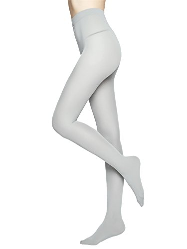 - Women's 80 Den Microfiber Soft Opaque Tights (Gray)