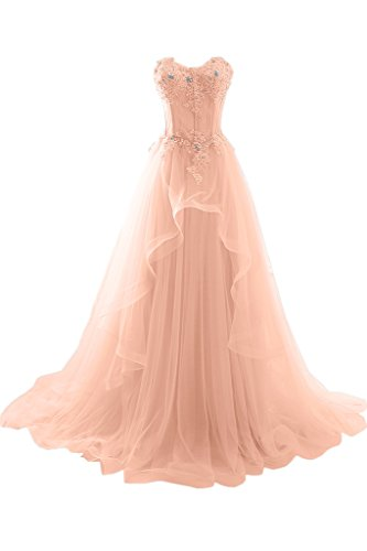 formal ball gowns for prom - MILANO BRIDE 2017 Vogue Evening Prom Dress Strapless A-line Ruffles Applique-2-Coral