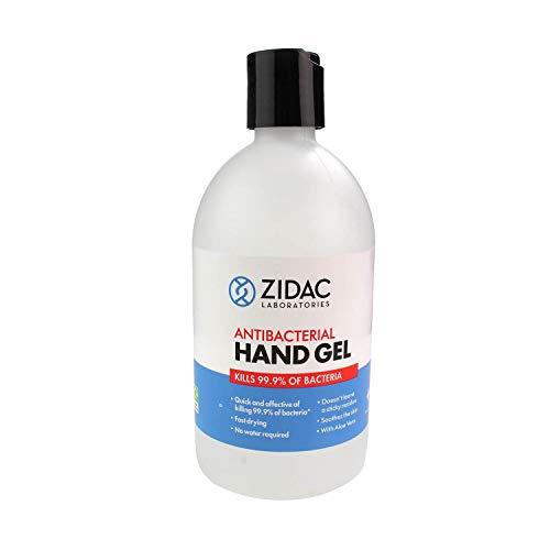 Zidac Laboratories Hand Sanitiser with Moisturiser – 70% Alcohol – 500ml