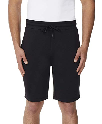(32 DEGREES Mens Fleece TECH Shorts-Black-Small)
