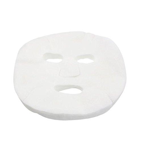 Demarkt 50 Packs White Cosmetic Enlarged Cotton Facial Mask Sheet for Ladies, Women, Girls