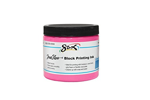 Sax True Flow Water Soluble Block Printing Ink - 16 Ounces - Magenta by Sax (Image #1)