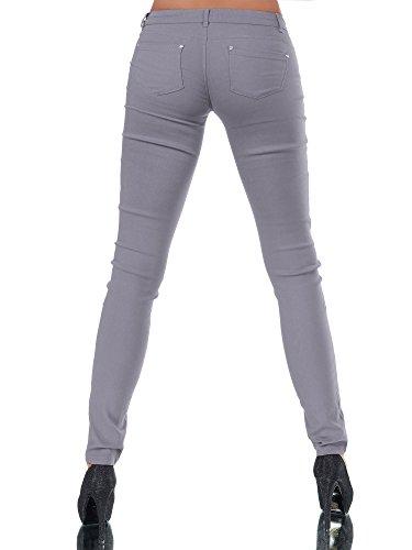 Basic Jeans Grigio Pietra Diva jeans Donna Jeggings qtZ7X1Ow