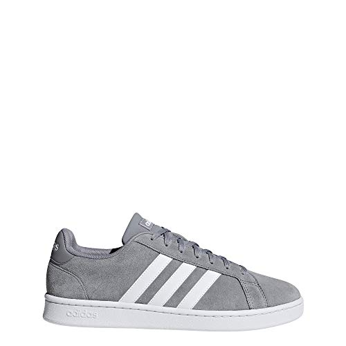 adidas Men's Grand Court Sneaker, grey/white/grey, 12 M US