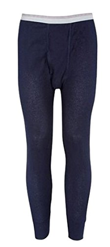 Colored Thermal Underwear - Indera Mills Colored Thermal Long John Bottoms,Medium,Navy